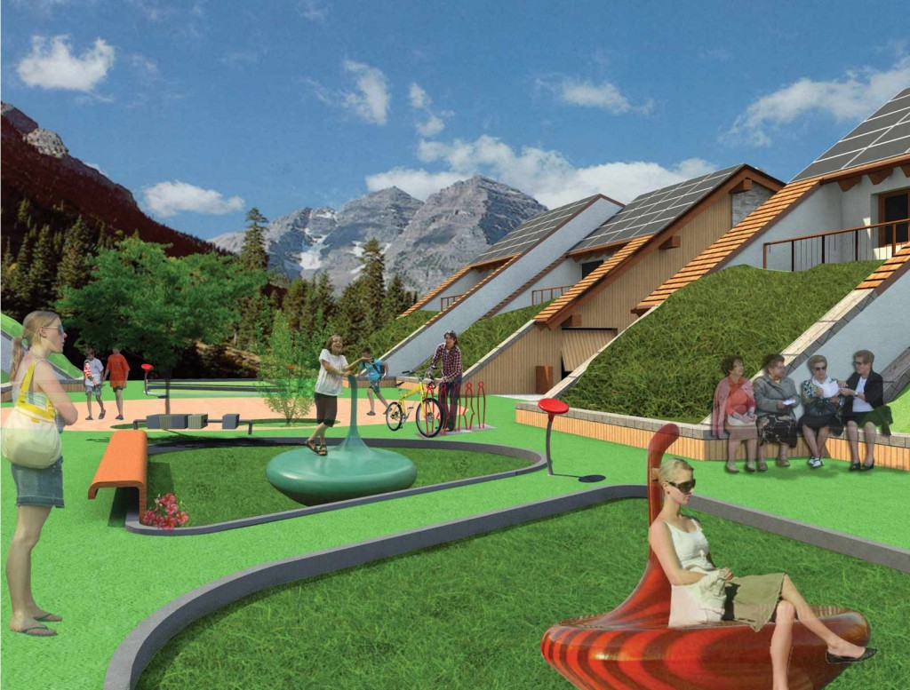 Sev socio eco village mitzi bollani for Rendering giardino