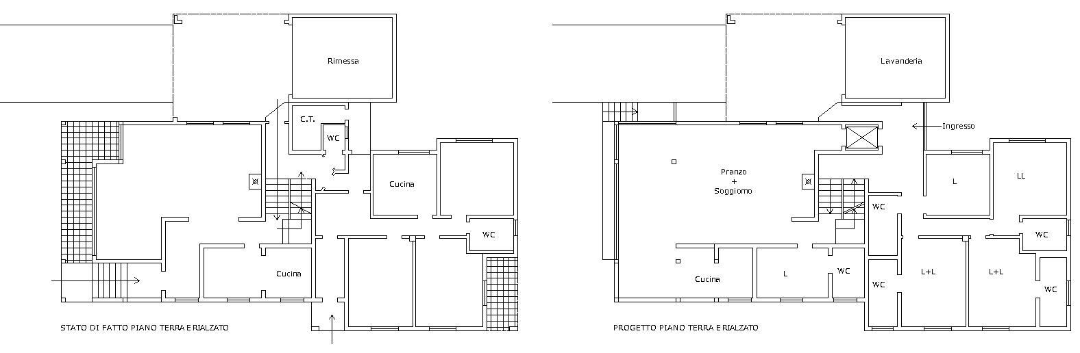 Progetto casa a due piani best villa su due piani con for Piani di casa per due casa di famiglia